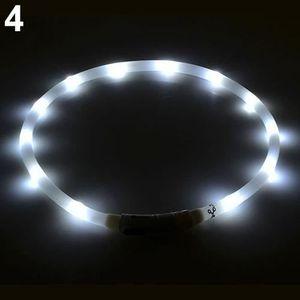 HARNAIS SPORT DE CHIEN Collier de lumière blanche rechargeable USB bande