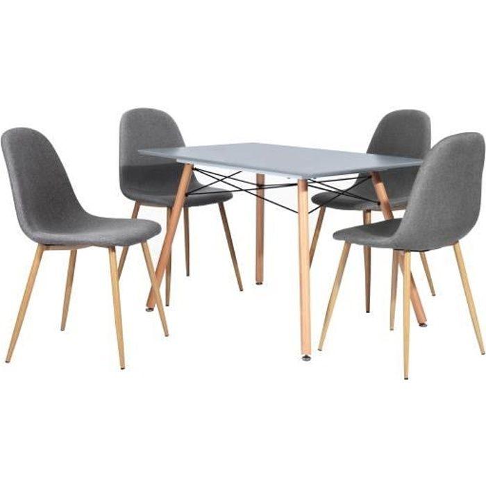 LONDON Ensemble salle à manger 4 à 6 personnes L120x I80 cm...