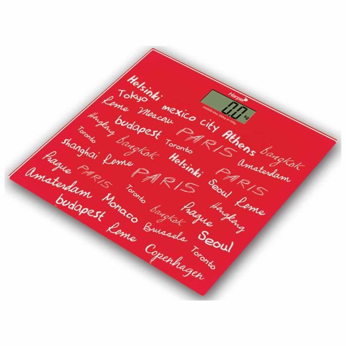 HARPER Pèse personne Signature Hws50 - Rouge