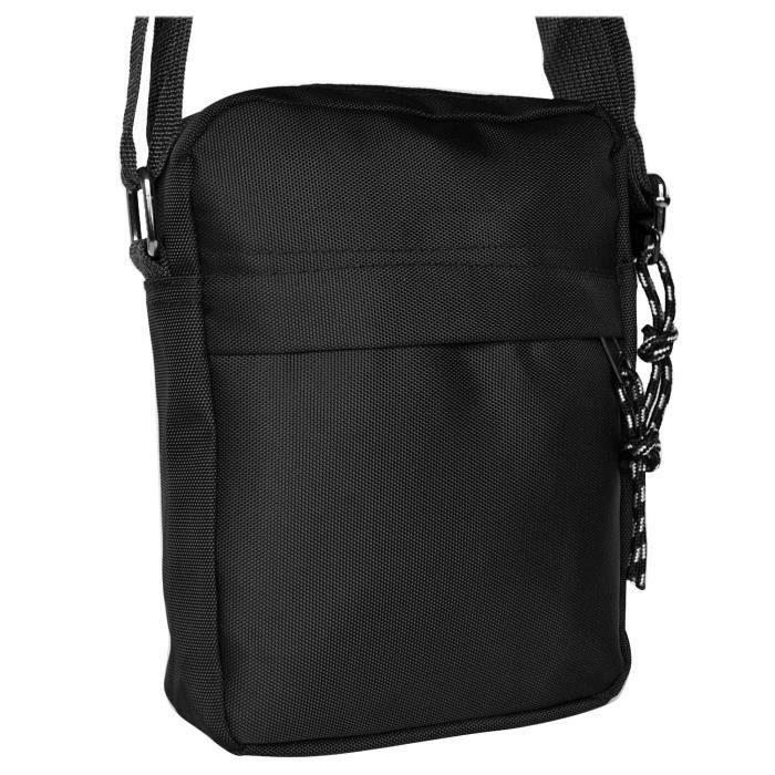 229615b3e64 Sacoche sac bandouliere femme homme nylon noir - Achat   Vente pas cher