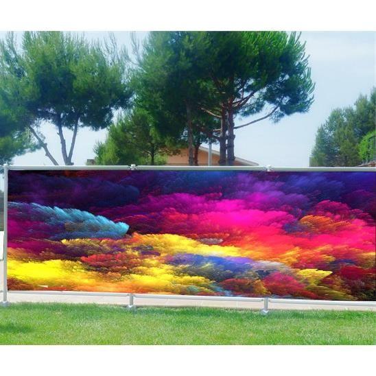 Brise vue, jardin, terrasse, balcon déco Design Couleurs Occultation -  100%, Dimensions - 340x132cm