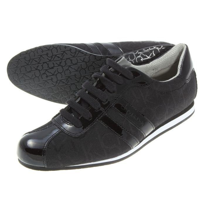2d4f2b7b3e49 Chaussure Calvin Klein George Ck… Noir Noir - Achat   Vente basket ...