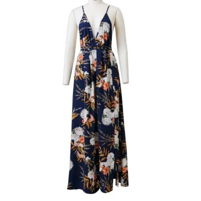 Fente fronde argent impression de mode de style européen des femmes jupe robe licou plage sexy