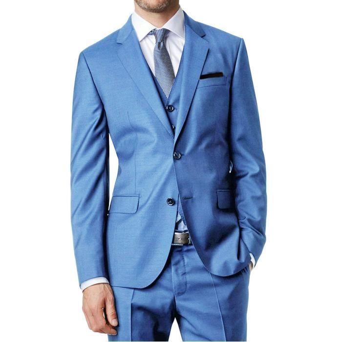 Santoni Bleu Costume 3 Ciel Pièces 5Rjq3c4AL