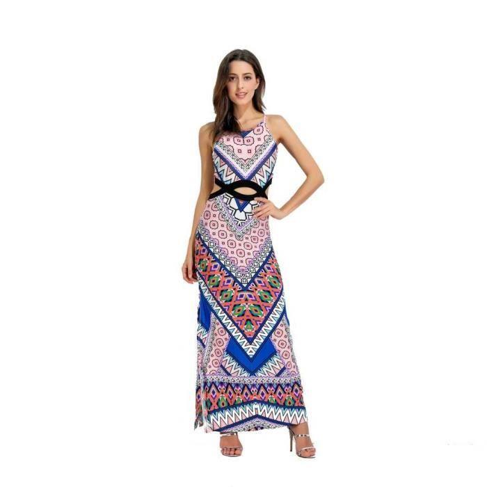 96548bb8fa5 Robe longue robe de plage Femme Chic 2018 Printemps Ete - Style ...