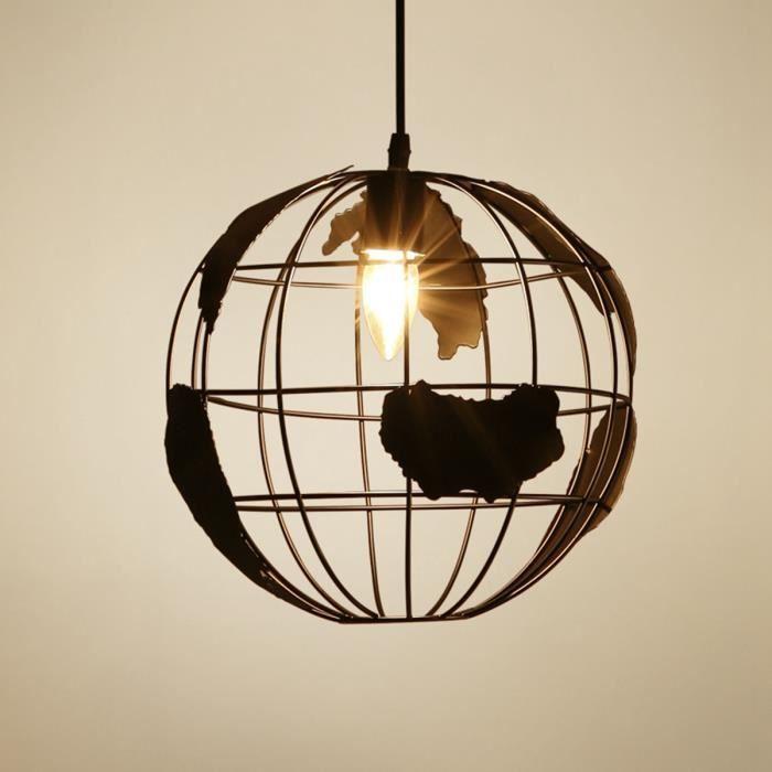 Seriøst NEUFU Globe Lampe Suspension Moderne Personnalité Rétro Plafonnier AG-69