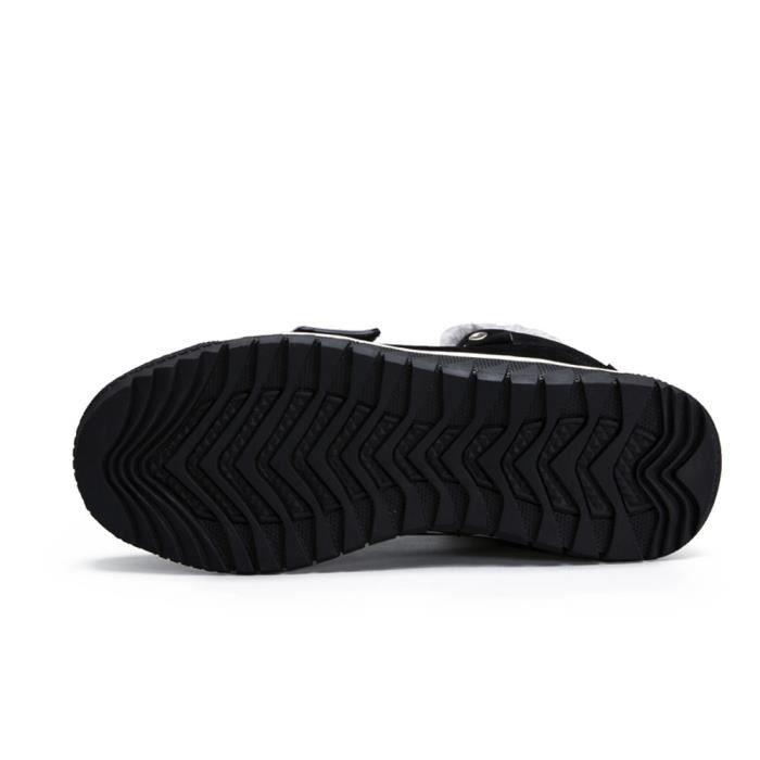 Plates Chaussures Hiver Cheville Noir Automne Casual Garniture Sport Chaud Bottines De Low Bottes Reservece Hommes qYF4q