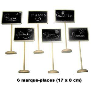 MARQUE-PLACE  6 marque-places bois panneau grande taille U Multi