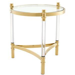 TABLE D'APPOINT Casa Padrino table d'appoint de salon or Ø 50 x H.