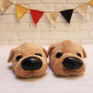 CHAUSSON - PANTOUFLE 26cm taille libre chien en peluche pantoufle chaus