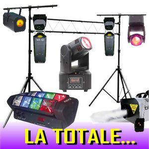 PACK LUMIÈRE DJ PACK LIGHT LED LYRE + PORTIQUE 3 M + 2 LYRES LE