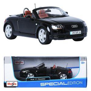 maisto 1:18 audi tt roadster black display miniature car - achat