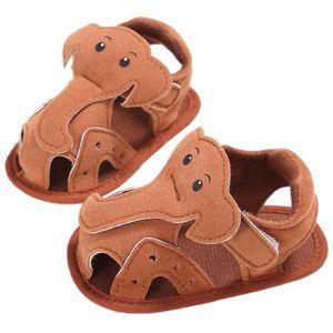 Frankmall®Bébé fille garçon Éléphant Semelle molle berceau enfant sandales nouveau-né chaussures GRIS#WQQ0926453 Pa66Xd4riD