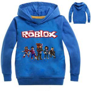 Enfants À Pull Capuche Noir Day Nose Pour Chemise Roblox Garçon Red H04q580w