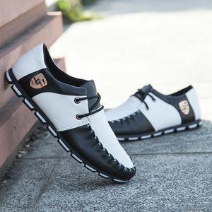 MOCASSIN Mocassin Hommes Cuir décontractée Chaussures en No
