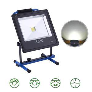 LAMPE DE CHANTIER Projecteur 50w lampe de chantier 430lm LED recharg