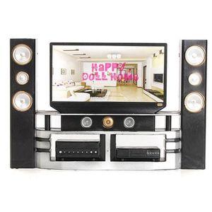 MAISON POUPÉE Mini Hi-Fi 1: 6 Ensemble d'armoires de cinéma mais