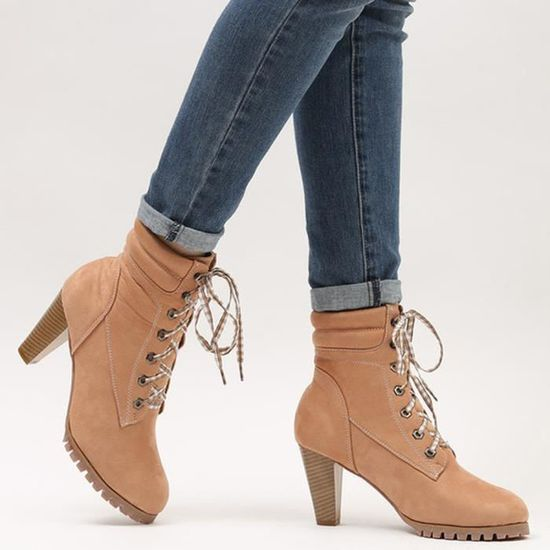 Heeled Chaussures Femmes Talons Sexy Haute Oppapps542 Martin Bandage Bottes Minces Peau Mode QrdxWECoBe