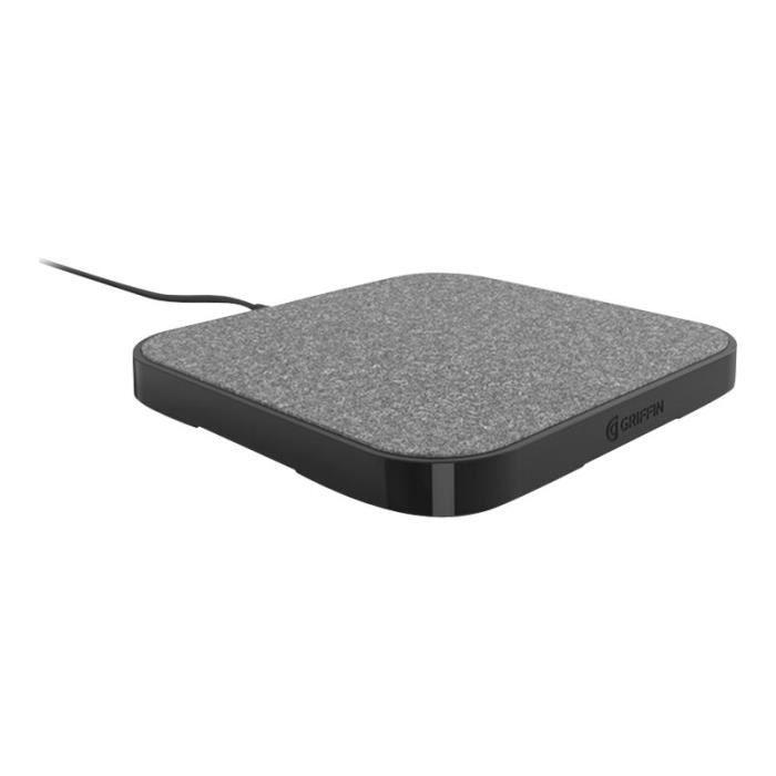 Griffin Base de charge sans fil Qi 15w Tapis de chargement sans fil + adaptateur d'alimentation