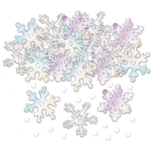 Confettis flocons de neige d coration de noel achat - Flocon de neige decoration ...