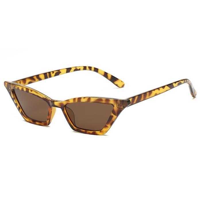 Lunettes de soleil femme Fashion Retro Cadre sunglasses Anti-Collision marque de Luxe Marron/Taupe