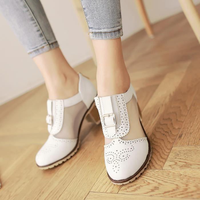 martin boots-Pure Color talonpais de femmes B...