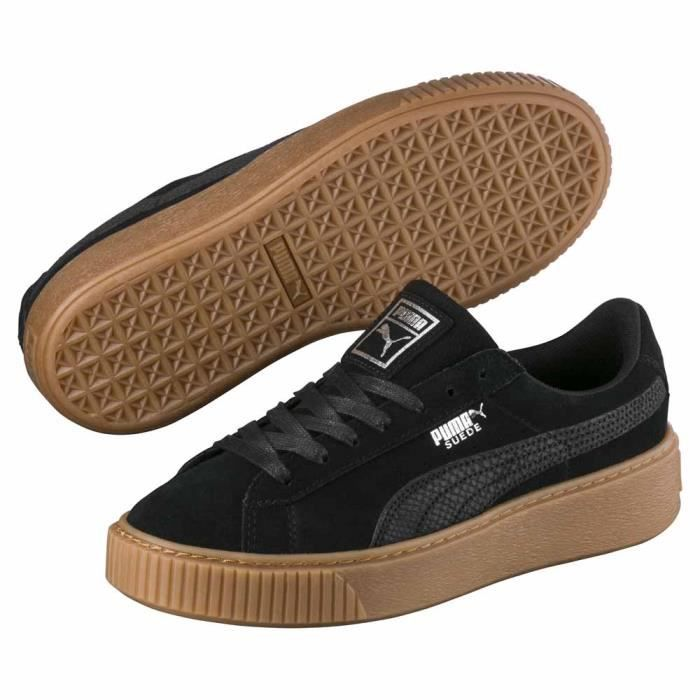 Chaussures femme Baskets Puma Select Suede Platform Animal