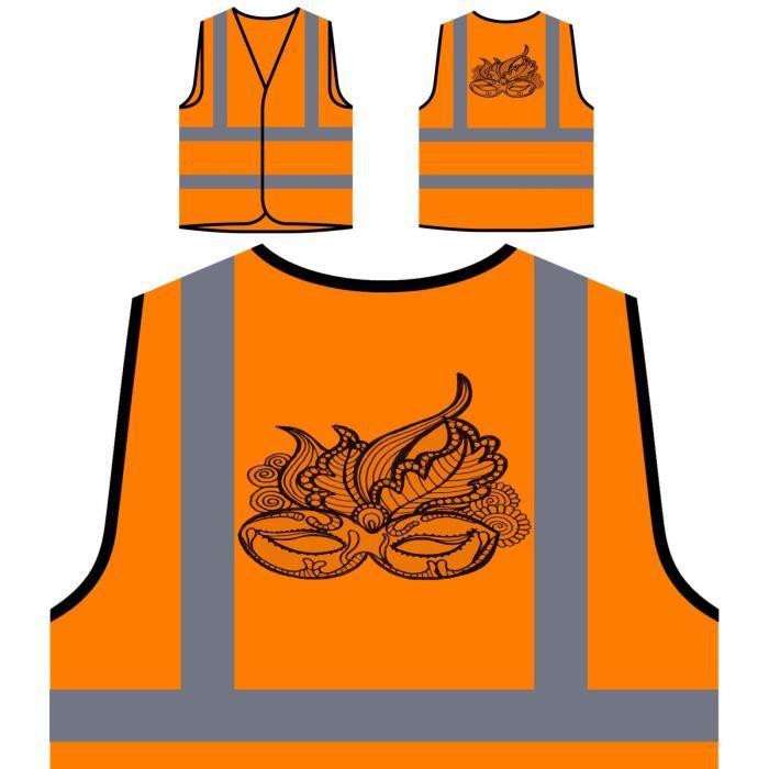 Veste nouveau Visibilité Personnalisée D'art Protection À Orange De Masque Beau Haute Ha gqg0rOY