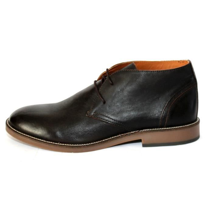 BOTTINES HOMME CHAUSSURES CUIR T 45 NEUVES