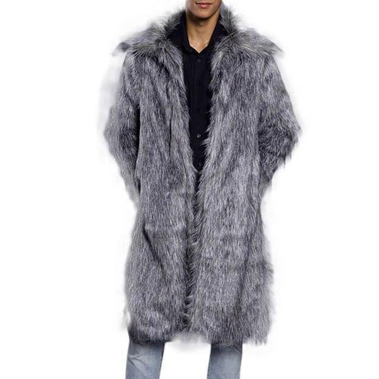 Manteau Cardigan Chaud Parka Épais Pardessus Manteaux Fausse En Hommes Fourrure Mode Veste Spentoper 7fIE1xwf