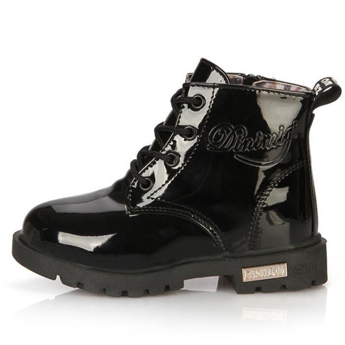 Enfants Bottes Sneakers Bottes Garçons Filles Casual Sneakers Mode Chaussures PU CuirImperméable Hiver Enfants Martin iknQS8uP