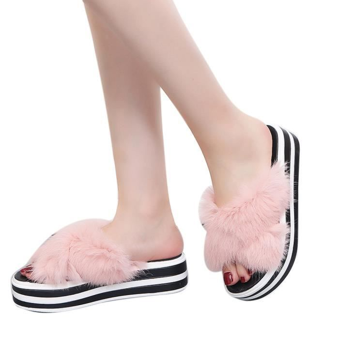 On Simples Chaussures Carré Banconre®femmes Mocassins argent Mode Talon Casual Sandale Dames Slip Solide OPxR4E