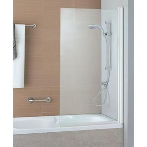 pare baignoire ancoswing blanc transparent achat vente porte de baignoire pare baignoire. Black Bedroom Furniture Sets. Home Design Ideas