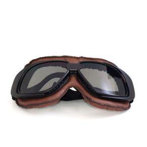 LUNETTES - MASQUE Cadre Noir Lunettes Moto Vintage Casque Goggle Mot