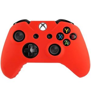 HOUSSE DE TRANSPORT XBOX One Coque Housse Silicone Manettes Rouge