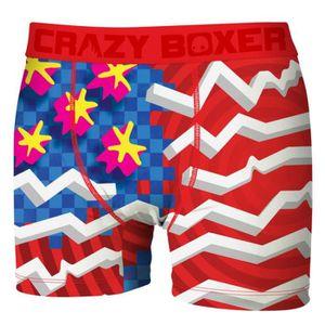 BOXER - SHORTY Boxer Homme Flag CRAZY BOXER
