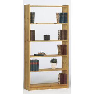 fb14fd13939544 BIBLIOTHÈQUE Bibliothèque avec 4 étagères en pin massif naturel