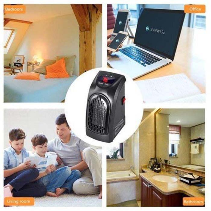 Chauffage Du0027appoint Electrique Mini, 400W Chauffage Soufflant Chaud  Radiateur Portable Pour Bureau Maison Chambre Voyage
