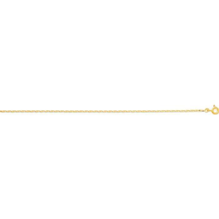 Chaîne maille cheval en or jaune 18 carats