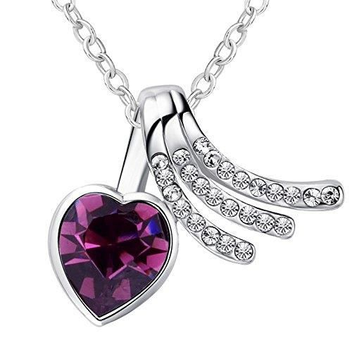 Womens Swarovski Crystals & Preciosa Rhinestones Diamond Heart-love-valentine Pendant Necklace. Da PVCJB