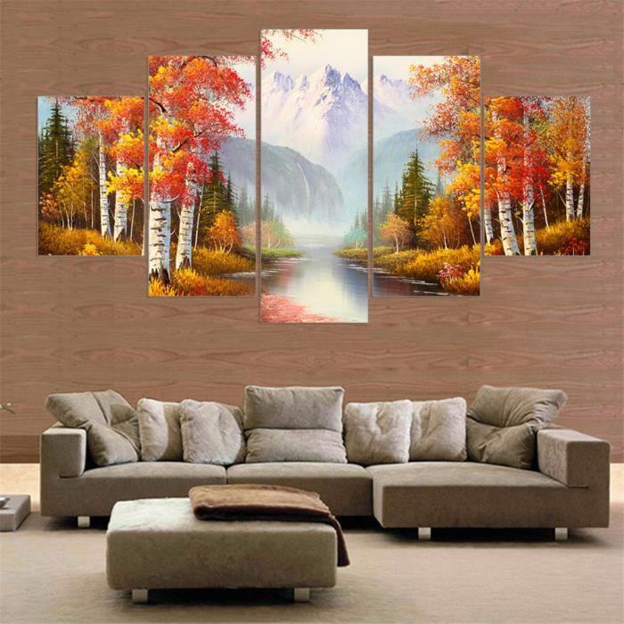 paysage tableau peindre peinture mur paysage art peinture modulaire d coration pi ce pas de. Black Bedroom Furniture Sets. Home Design Ideas