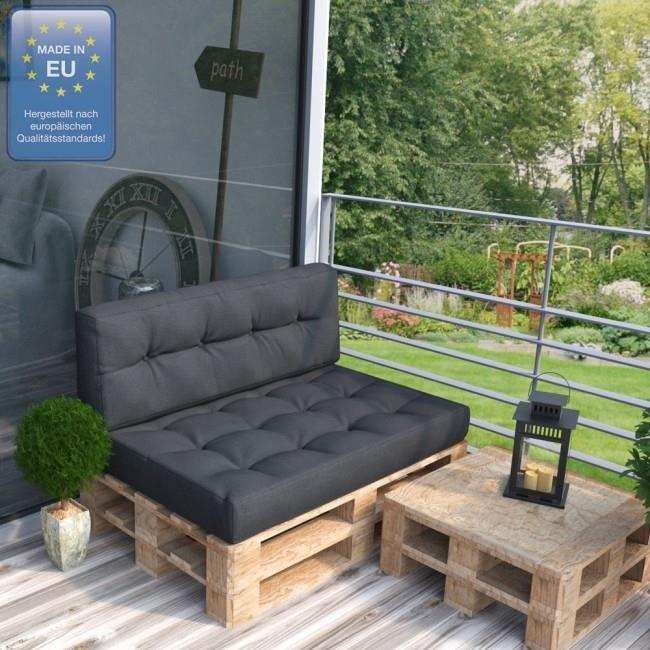 Coussin pour mobilier de jardin pallet Antracite Mod1 - Achat ...