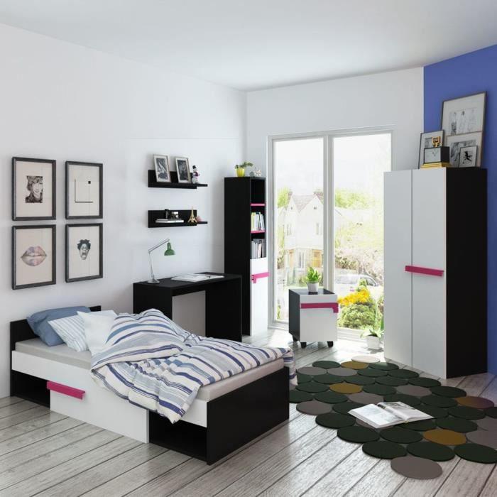 Mobilier De Chambre A Coucher Pour Enfants 7 Pieces Rose Achat