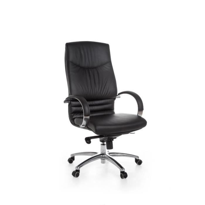 Bureau En De Moderne Noir Véritable Chaise Coloris Cuir OXPkuZTi