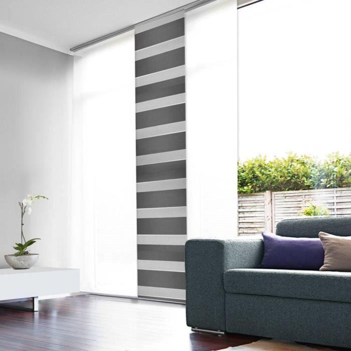 good panneau japonais panneau japonais tamisant jour nuit gris with paravent japonais coulissant. Black Bedroom Furniture Sets. Home Design Ideas