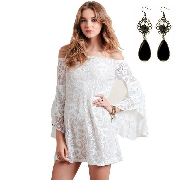 Robe tunique femme manche longue
