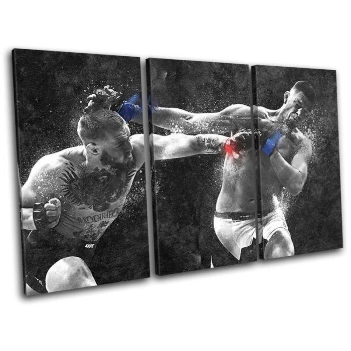 linge de lit mcgregor 3Pcs Conor Mcgregor Nate Diaz UFC MMA Toile Tableau Home Décor  linge de lit mcgregor