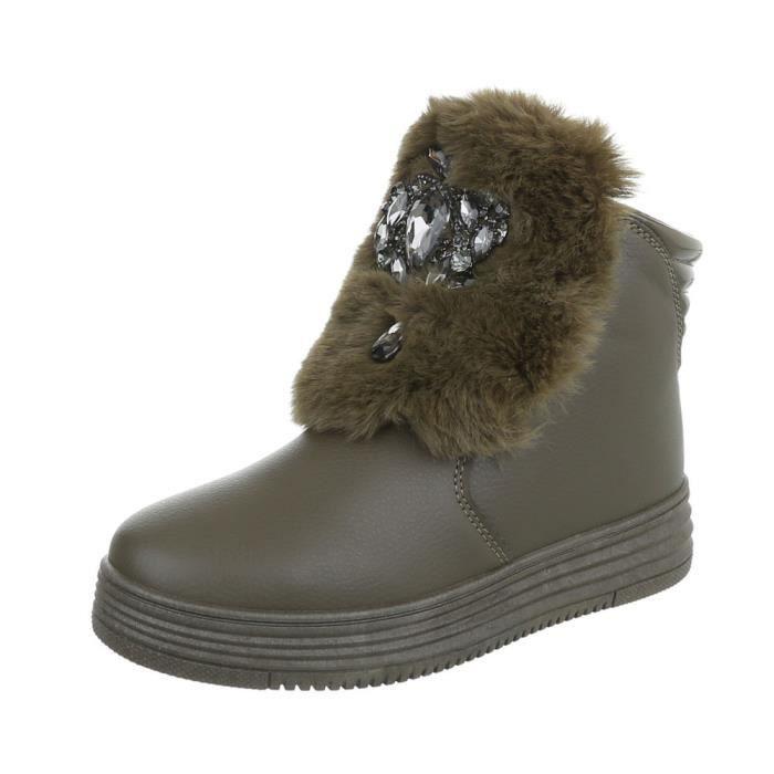 femmes hiver bottillon | hiver bottes doublé | épais doublée Bottes de neige | Art fourrure hiver Boots | la laque Fell bottes |