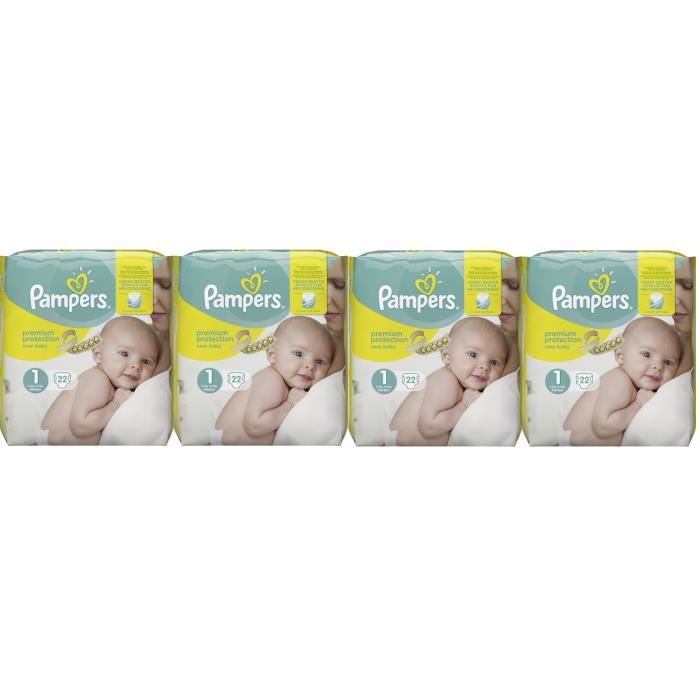 COUCHE Pampers New Baby Taille 1 Newborn 2-5kg 88 Couches