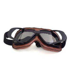 1637c1ca10612 ... LUNETTES - MASQUE Cadre Noir Lunettes Moto Vintage Casque Goggle Mot. ‹›